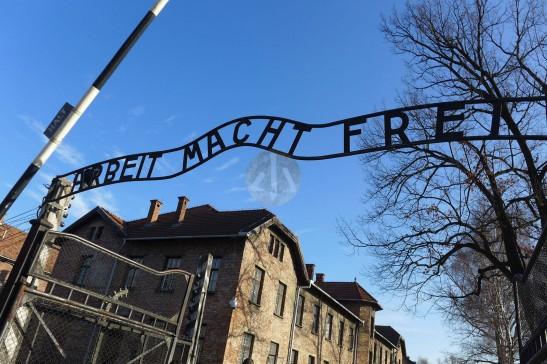 營區的地標:勞動使你自由。(Arbeit macht frei)