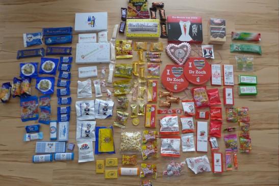 這是我們點算過後,當天所收到的糖果。收獲超豐富!