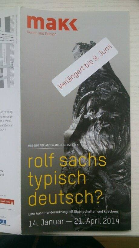 小冊子封面就是Fleiß。順帶一提,這個展覽因為太受歡迎,決定延長展期至七月。據說,這是近年MAKK最成功的展覽。