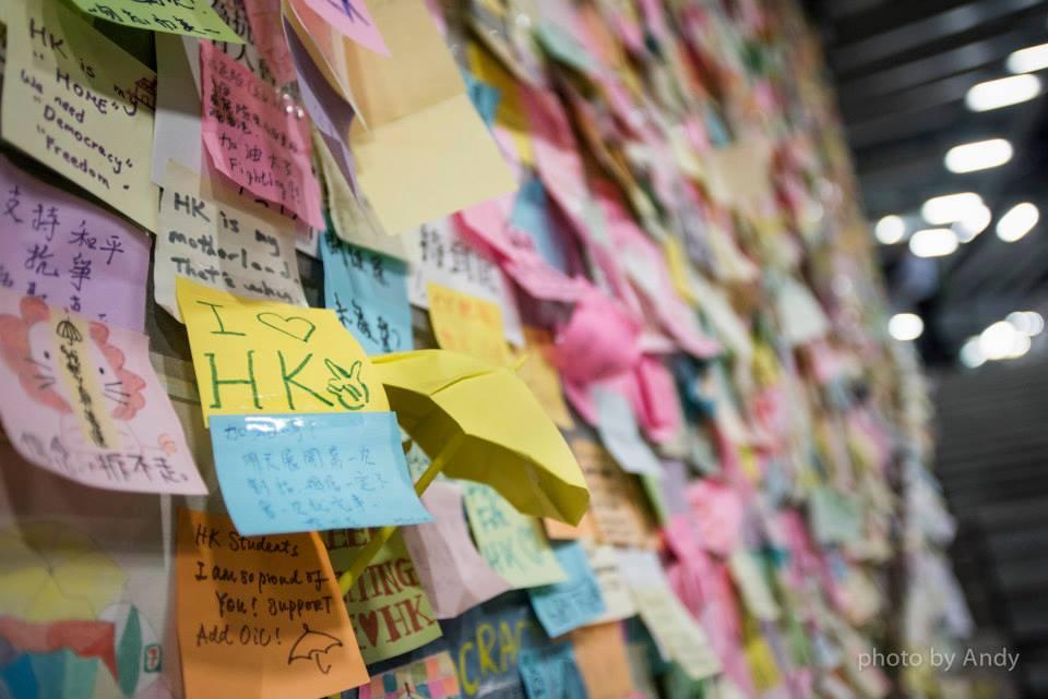 一人一句一memo累積的Lennon wall