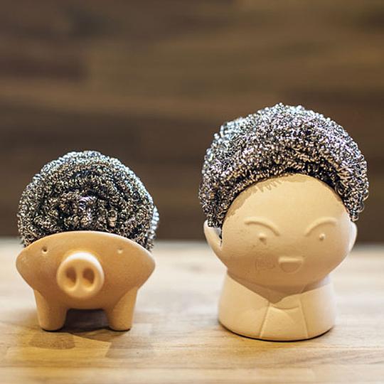 以3D打印機初試啼聲的吸水鋼絲球座。(圖片來源:https://goo.gl/ECvyTI)
