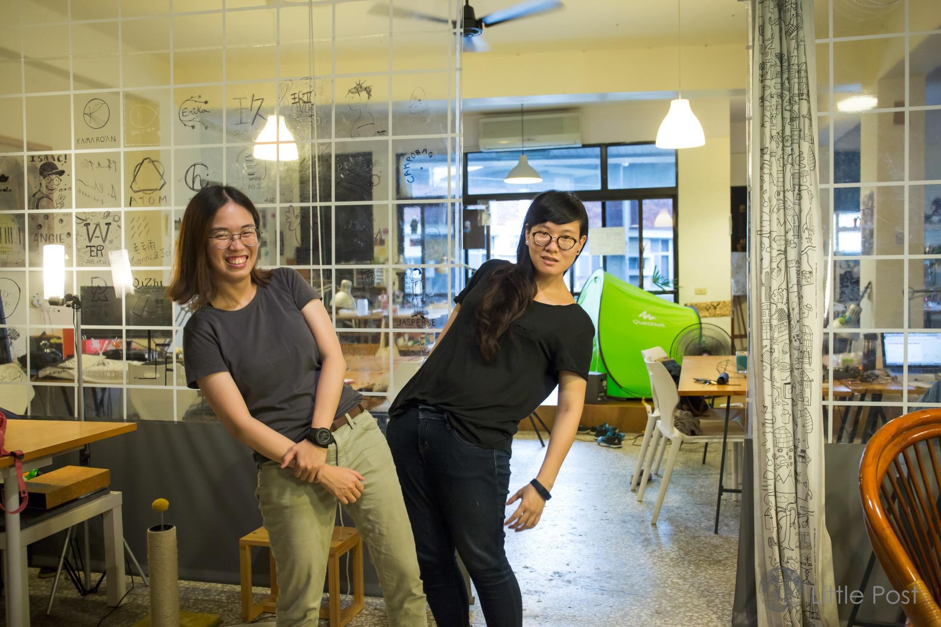禹安(左)與懿荷(右)一起營運「星球」